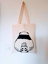 Nákupné tašky - ZĽAVA•ručne maľovaná plátená taška - pandičky• - 12461646_