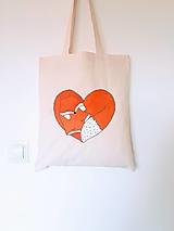 Nákupné tašky - •ručne maľovaná plátená taška - skotené líšky• - 12461651_