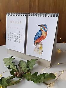 Papiernictvo - Kalendár 2021 Vtáky - 12461669_