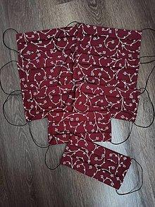 Rúška - Bavlnené rúško bordové - 12460529_