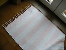- Tkaný koberec bielo-ružový - 12460879_