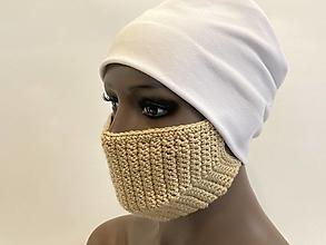 Rúška - háčkované rúško na ústa a tvár - 12460051_