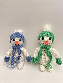 Hračky - Snehuliak háčkovaný hračka/dekorácia - 12463388_