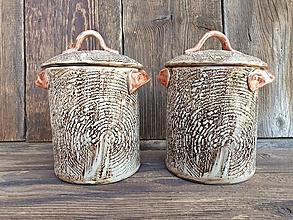 Nádoby - Dóza veľká Drevo 850 ml - 12469001_
