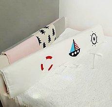 Textil - Zábrana na posteľ - 130 cm x 37 cm aj v inom rozmere - 12469013_