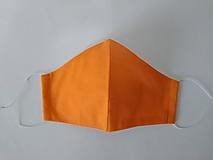 Rúška - Rúško tvarované oranžové dvojvrstvové - 12466631_