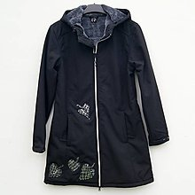 Kabáty - Dámský zimní kabát Silver Leaves - 12465903_