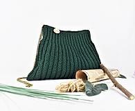 Kabelky - Kabelka háčkovaná Smaragd - 12466630_