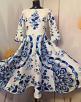"Šaty - Spolčenské šaty Floral Folk "" EMA "" - 12464444_"