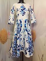 "Šaty - Spolčenské šaty Floral Folk "" EMA "" - 12464445_"