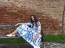 "Šaty - Spolčenské šaty Floral Folk "" EMA "" - 12464448_"