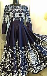 """Šaty - Spoločenské šaty Floral Folk - """" Modrotlač """" - 12464580_"""