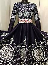 """Šaty - Spoločenské šaty Floral Folk - """" Modrotlač """" - 12464583_"""
