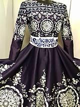 """Šaty - Spoločenské šaty Floral Folk - """" Modrotlač """" - 12464586_"""