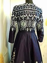 """Šaty - Spoločenské šaty Floral Folk - """" Modrotlač """" - 12464597_"""
