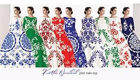 "Šaty - Spolčenské šaty Floral Folk "" EMA "" - 12464626_"
