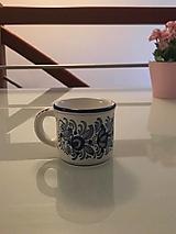 Nádoby - Bielo - modrá šáločka na kávičku - 12464777_