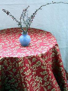 Úžitkový textil - Obrus. Vianočný, adventný luxusný so zlatou potlačou. - 12466106_