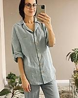 Košele - Dámska ľanová košeľa LILI - 12468422_