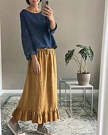 Sukne - Dámska ľanová sukňa BETTY - 12468589_