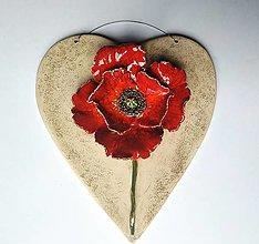 Dekorácie - Divý mak v srdci - 12466946_
