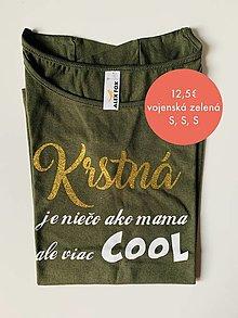Tričká - Krstná je niečo ako mama - tričko pre krstnú - 12468346_