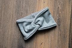 Čiapky - Čelenka twist & fleece rôzne odtiene - 12469152_