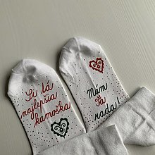 """Obuv - Maľované vianočné ponožky s nápisom: """"Si tá najlepšia kamoška / mám Ťa rada"""" - 12469020_"""