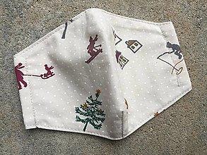 Rúška - vianoce 6 ....rúško XS,S - 12464470_