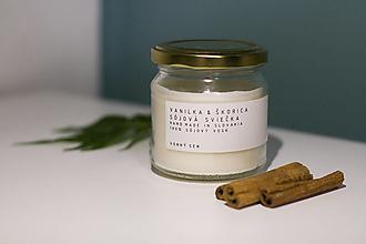 Svietidlá a sviečky - Sojova sviecka Vanilka & škorica - antialergent - 12467964_