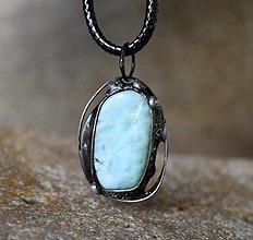 Náhrdelníky - Larimar prívesok/náhrdelník - 12468030_
