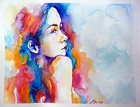 Obrazy - Cloudy hair - tlač A4, A3 - 12467685_