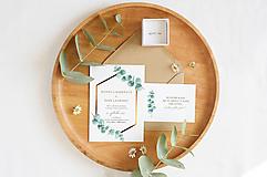 """Papiernictvo - Svadobné oznámenie """"Eucalyptus Gold"""" - 12471342_"""