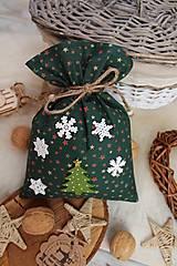 Úžitkový textil - Darčekové vianočné vrecúško - 12470580_
