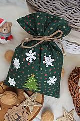 Úžitkový textil - Darčekové vianočné vrecúško - 12470581_