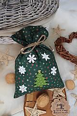 Úžitkový textil - Darčekové vianočné vrecúško - 12470582_