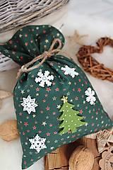 Úžitkový textil - Darčekové vianočné vrecúško - 12470584_