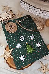Úžitkový textil - Darčekové vianočné vrecúško - 12470585_