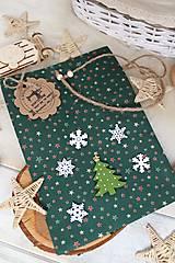Úžitkový textil - Darčekové vianočné vrecúško - 12470587_
