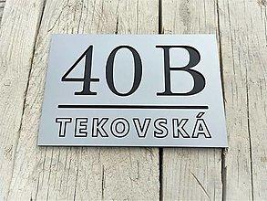 Tabuľky - Popisné číslo: Ulica Modern - 12473352_