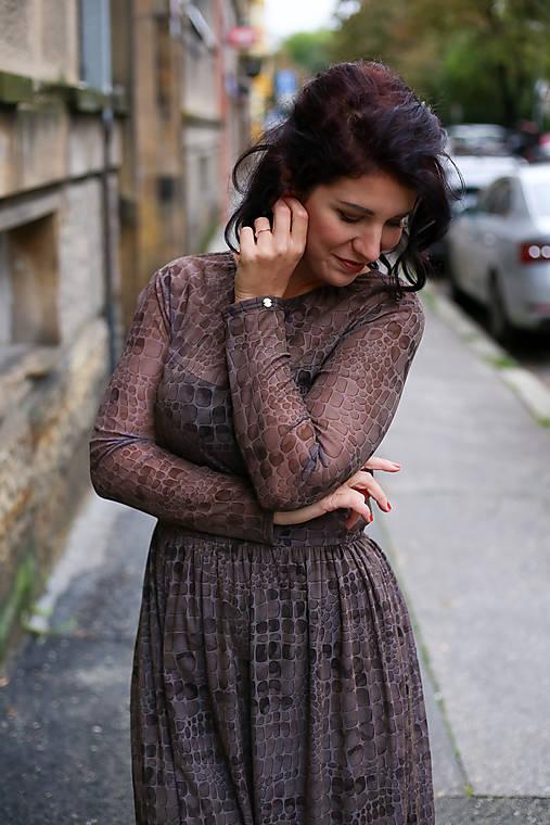 Šaty - ŠATY FLAME - BROWN - 12470317_