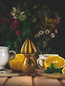Pomôcky - Citrusovač - lis na citrusy - hnědá s efektem - 12470253_