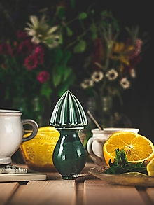 Pomôcky - Citrusovač - lis na citrusy - olivový - 12470260_