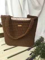 Veľké tašky - Hnedá taška s podšívkou - 12473894_
