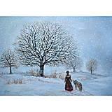 Obrazy - Zimná prechádzka - 12470621_
