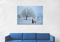 Obrazy - Zimná prechádzka - 12470633_