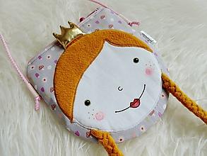 Detské tašky - Kabelka - princezná s muchotrávkami, sivá - 12473083_
