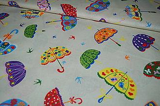 Textil - metráž dáždniky - 12473263_