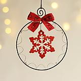 Dekorácie - vianočná dekorácia s keramikou - 12475829_