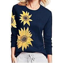 Tričká - Dámské tričko Slunečnicové - 12475605_